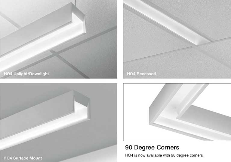 HO4 by Finelite – Fully Illuminated 90° Corners